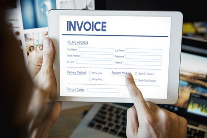 62413635 - invoice billing information form graphic concept